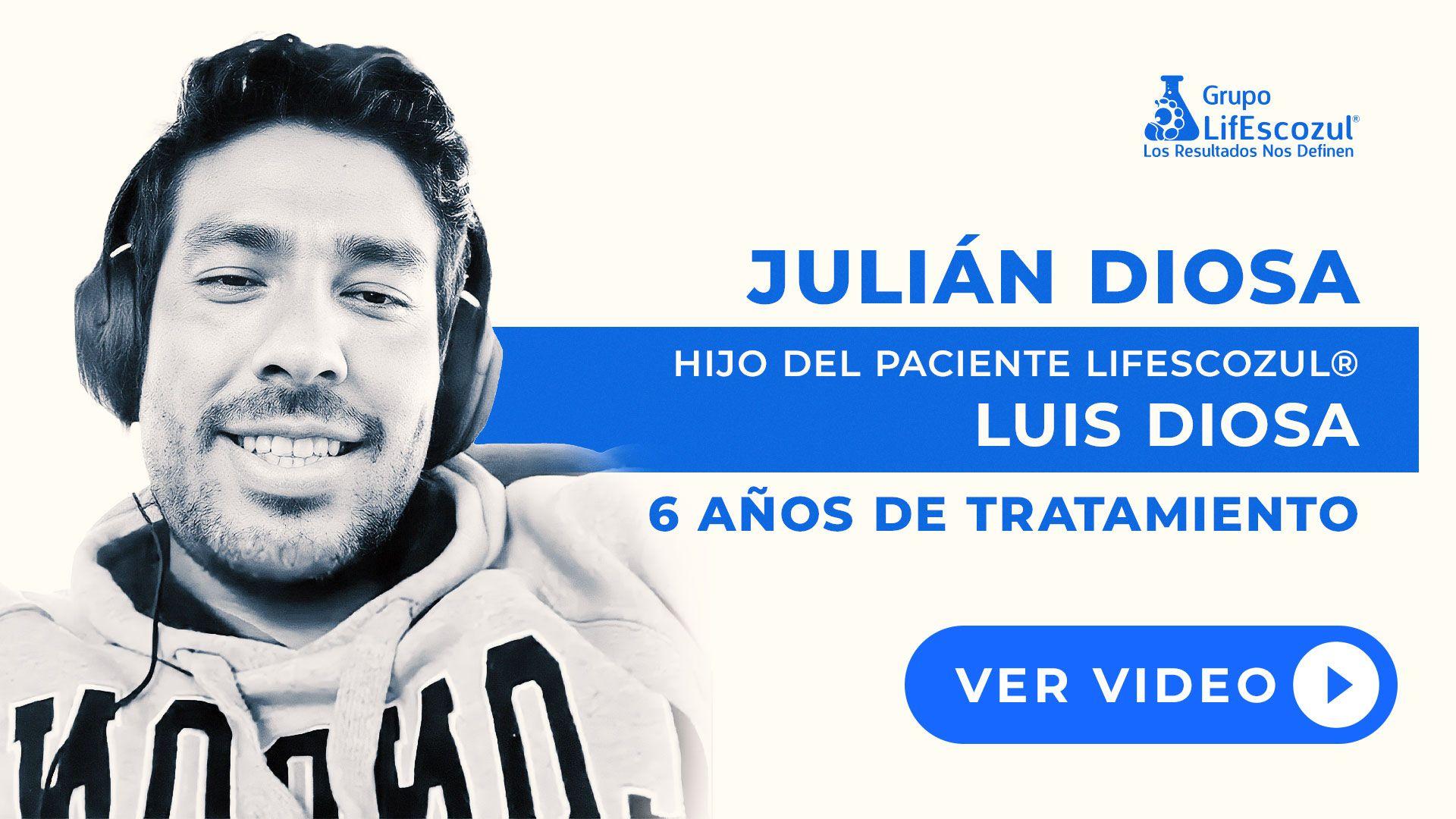 Luis Diosa - Cáncer de Pulmón - Resultados con LifEscozul®