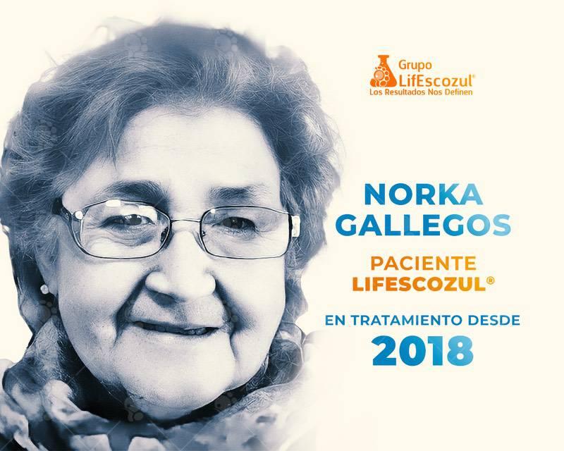 Norka Gallegos - Cáncer de Pulmón - Resultados con LifEscozul®